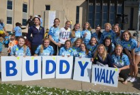 buddy walk photo of Century HS cheer team